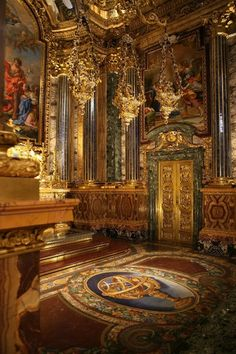 Chapel of St. John the Baptist in the Church of Saint Rocco, Lisbon, Portugal. Considered to be a masterpiece unique in European art, this chapel was ordered from Rome in 1740 by King John V.