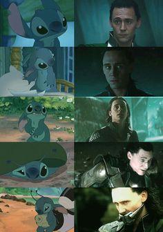 Awww Stitch awwww Loki