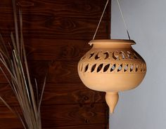 Terracotta Lantern planter pot to hang fretwork italian