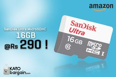 """SanDisk 16GB """"Class 10"""" Memory Card at Rs. 290 only!#KaroBargain https://www.karobargain.com/stores/amazon/235869"""