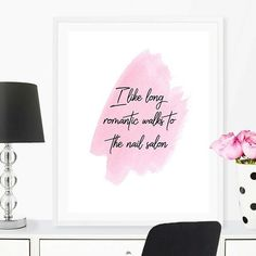Just another super sassy quote that we love to feature on our gorgeous girly Art Prints.    Check out our fun ultra *feminine* home decor prints here: www.iknowimperfect.com    #etsy #girlpower #pinupstyle #giftforher#positivity  #retrogirl #homedecor#pinkdec