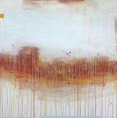 """Babette Herschberger Sunset Mesa  36"""" x 36""""  acrylic on wood panel  2011"""