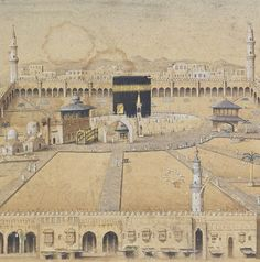 A Panoramic View Of Mecca In Ottoman Period