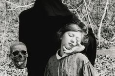 #death #child #skull #black #girl