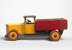 Colourful Hand Made Toy Truck (Sold) Painted Wood and Metal  English, c.1940