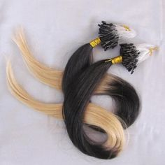 Straight Ombre Micro Ring Hair Extension in Dip Dye #1b to #613 100 strand/set 16-28 inch Women's Remy Micro Loop Hair Wholesale