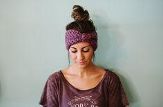 headband earwarmer ear warmer bow headband turban by Shanionie,