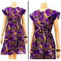 Dress Batik | jual batik murah, Batik modern, batik sarimbit, baju batik Dress Batik Solo Modern KODE : DB 3156