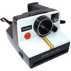 Retro Vintage Polaroid OneStep SX-70 Instant Film Camera with Rainbow... (180 PLN) ❤ liked on Polyvore featuring accessories and polaroid