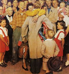 Homecoming -Post cover Dec 25,1948--by Norman Rockwell