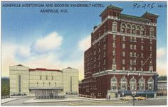 Asheville Auditorium and George Vanderbilt Hotel, Asheville, N.C. by Boston Public Library, via Flickr