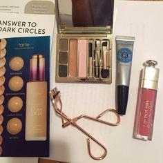 Clarins brow kit,Tweezerman ,Dior gloss, loccitane Beauty bundle! Makeup Eyebrow Filler