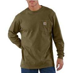 Men's Long Sleeve Pocket Workwear Tee - XL