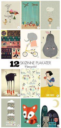 12 art prints for kids room