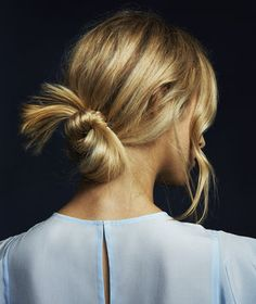 Get a Grip. | You throw your hair up before running errands, yes? This tousled knot is equally low-effort but looks oh so pulled-together.