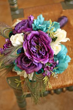Custom Listing for Kapin Plum and Teal by SouthernGirlWeddings