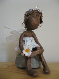Tiny fairy. Fairy Sculpture. by Stephaniessculptures on Etsy