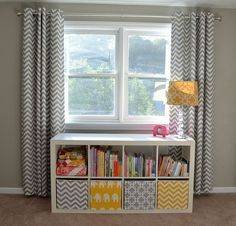 Decorate your kids room with Nursery Curtains Beautiful Nursery Progress by sewcraftyjess, includes links to blackout fabric and blackout nursery blackout curtains Kids Room Curtains, Nursery Curtains, Nursery Room, Kids Bedroom, Chevron Curtains, Yellow Curtains, Long Curtains, Crib Bedding, Master Bedroom