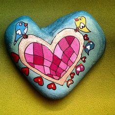#taş #taşboyama #taşsanatı #elyapimi #kendimyaptım #stone #stoneart #stonepainting #rock #rockart #rockpainting #rockpaint #aşıkkuşlar #kapıönüsüsü