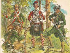 MINIATURAS MILITARES POR ALFONS CÀNOVAS: SOLDADOS de la Revolución Americana 1775-1783. = fuente .- Liliane y Fred FUNCKEN.