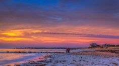 """""""Buzzards Bay Sunset"""" at Woodneck Beach in Falmouth.  Photo by Michael Petrizzo,  Petrizzo Photography & Digital Art  www.petrizzofineart.com"""