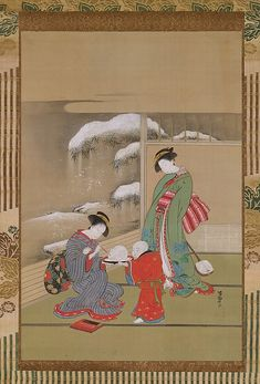 "Isoda Koryūsai (Japanese, 1735–ca. 1790). Painting the Eyes on a Snow Rabbit, ca. 1780. The Metropolitan Museum of Art, New York. Charles Stewart Smith Collection, Gift of Mrs. Charles Stewart Smith, Charles Stewart Smith Jr., and Howard Caswell Smith, in memory of Charles Stewart Smith, 1914 (14.76.32) | This work is featured in our ""Kimono: A Modern History"" exhibition on view through January 19th."