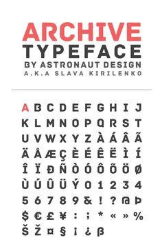 Archive by Slava Kirilenko #free #font