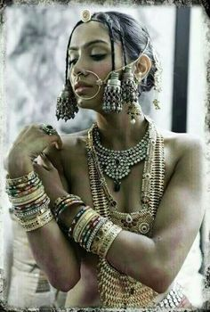Stunning tribal inspired adornment..