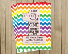 Gorgeous chevron invites.
