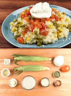Risotto is right any time of year, and this version is a celebration of the flavors of late summer, including fresh corn on the cob, tangy tomato vinaigrette, and basil pesto. We have a couple tasty tricks (treats, actually) up our sleeves that put this one over the top. Treat number one is adding a spoonful of miso paste to give the risotto unique umami undertones. For treat number two, we top this risotto off with creamy burrata cheese, which is fresh mozzarella stuffed with more fresh…