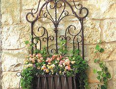 Wrought iron window planters!