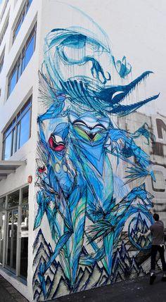 street art by Australian Shida