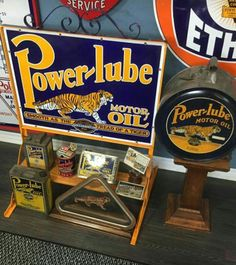 RARE Power-Lube Motor Oil Advertising Collection