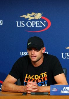 a true champion on and off the court .... NEW YORK, NY - AUGUST 30: Andy Roddick of the United States speaks to the media during a press conference announcing his retirement during Day Four of the 2012 US Open at USTA Billie Jean King National Tennis Center on August 30, 2012 in the Flushing neighborhood of the Queens borough of New York City. (Photo by Michael Heiman/Getty Images)