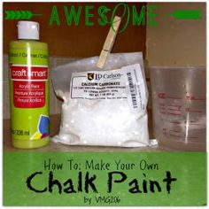 How to Make Your Own Chalk Paint ~ and Giveaway