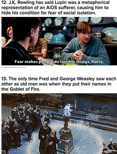 don't know if its true but.... Neat Harry Potter facts