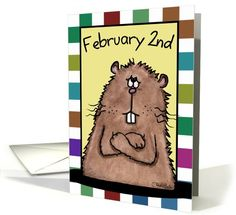 Happy Groundhog Day-February 2nd Groundhog card
