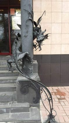 The entrance to a bank in Russia Metal Sculpture Artists, Steel Sculpture, Welding Art, Welding Projects, Arc Welding, Art Projects, Welding Tools, Project Ideas, Auction Projects