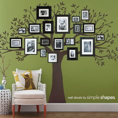 Family Tree Wall Decal, Family Tree Decal, Tree decal - Simple Shapes Wall Decals, Furniture, and Accessories