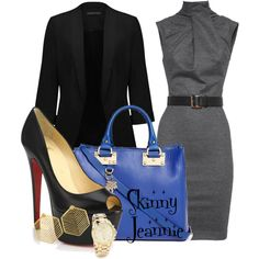 Untitled #1286 by skinny-jeannie on Polyvore featuring polyvore fashion style Dsquared2 Forever New Christian Louboutin Sophie Hulme Michael Kors Kasturjewels