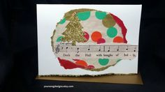 Polka Dot Holiday Card Set (10) Handmade Cards with Holiday Songs by YourSongDesigns on Etsy
