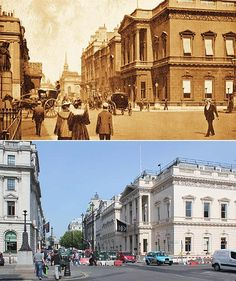 A new book, 'The Queens' London', makes a striking comparison of the city in the diamond Jubilee years of Victoria and Elizabeth II. Victorian London, Vintage London, Old London, London City, London History, British History, Asian History, Tudor History, Then And Now Photos