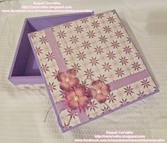 Caixa de mdf decorada com scrapbook