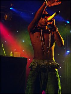 Tinchy Stryder at Falmouth week, maybe 2011?