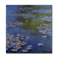 Hand-painted Oil Painting Water Lilies by Claude Monet with Stretched Frame - OutletsArt.com