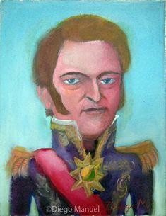 Juan Manuel de Rosas . Cuadro en venta de la Serie Historia Argentina del artista plastico Diego Manuel