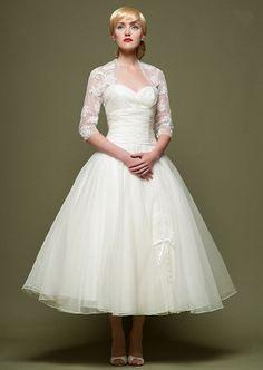 My 50s style wedding dress:)
