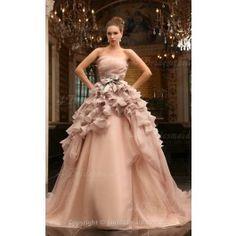 A-line Jewel Floor-length Luxury Wedding Dresses