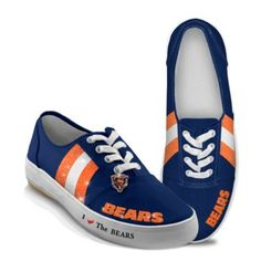 NFL-Licensed Chicago Bears Women's Canvas Sneakers $69.95 #Bears #NFL