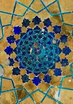 Stock Photo - Dome of the mosque oriental ornaments from Bukhara Uzbekistan Islamic Tiles, Islamic Art, Tile Patterns, Pattern Art, Geometric Patterns, Arabesque, Terracota, Tile Art, Mosaic Tiles